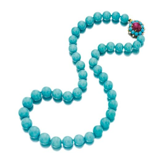 Turquoise, Ruby and Diamond Necklace, Bulgari pinterest